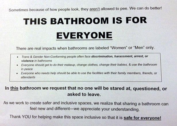 Temp Bathroom Sign