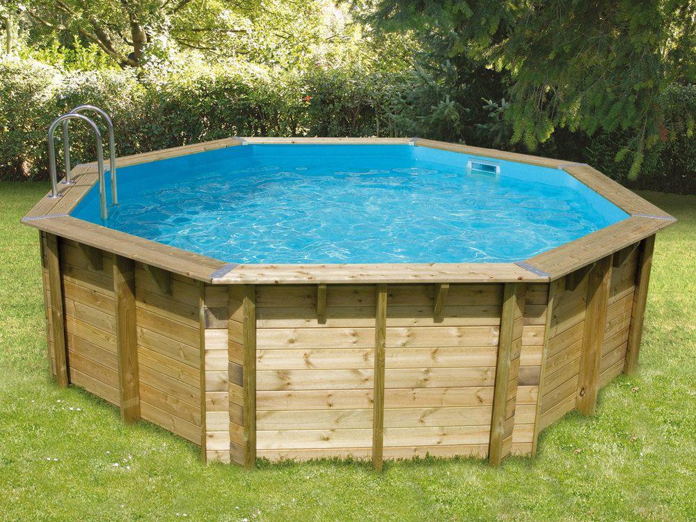 Piscine hors sol Bois FSC Octogonale OCEA Pool Pinterest - l eau de ma piscine est verte et trouble