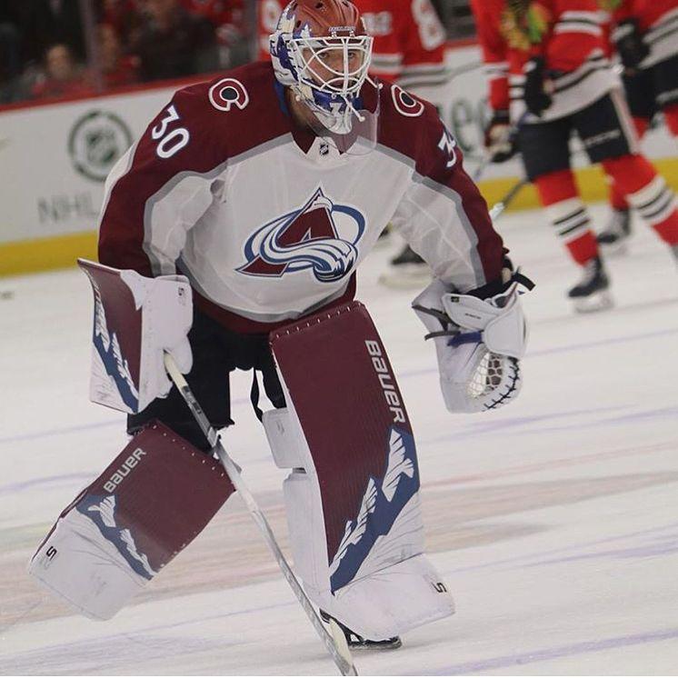Spencer Martins New Colorado Avalanche Bauer 2s Pads Colorado Avalanche Hockey Goalie Goalie Gear