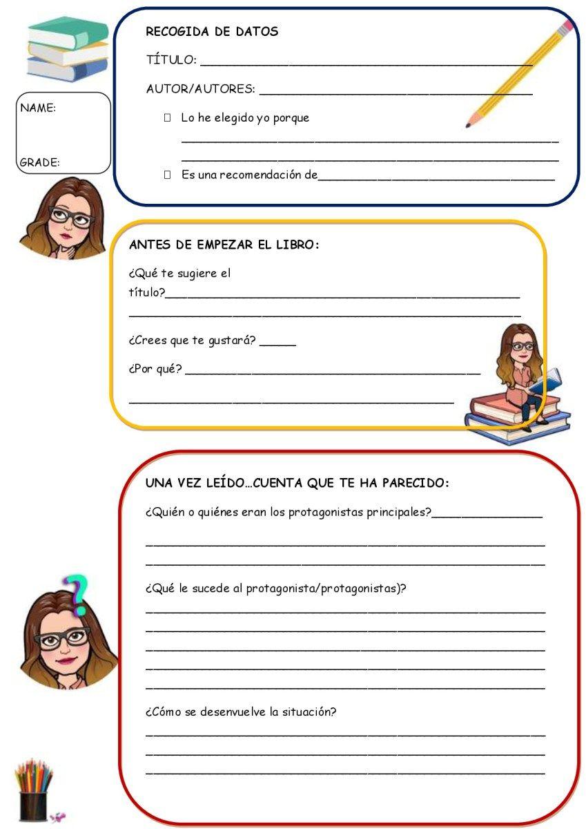 Fichas ideal para trabajar la lectura en castellano e