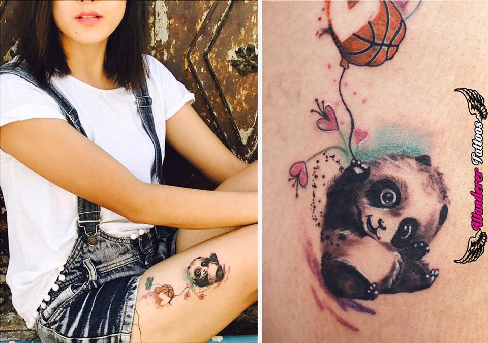 Custom Watercolor Tattoo For Choying Who Loves Basketball And