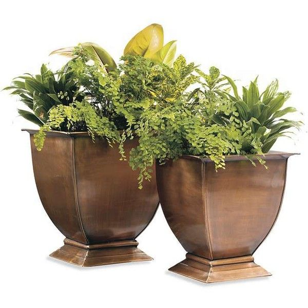 Grandin Road Large Stainless Steel Planter Pots 99 Liked On