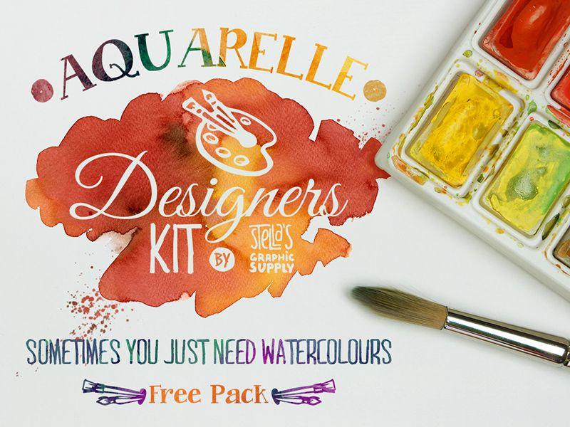 Freebie Aquarelle Designers Kit Mini Design Inspiration