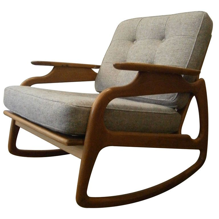 Captivating Italian Rocking Chair Italy Circa 1950u0027s A Mid Century Wood Framed Rocking  Chair Of Interesting