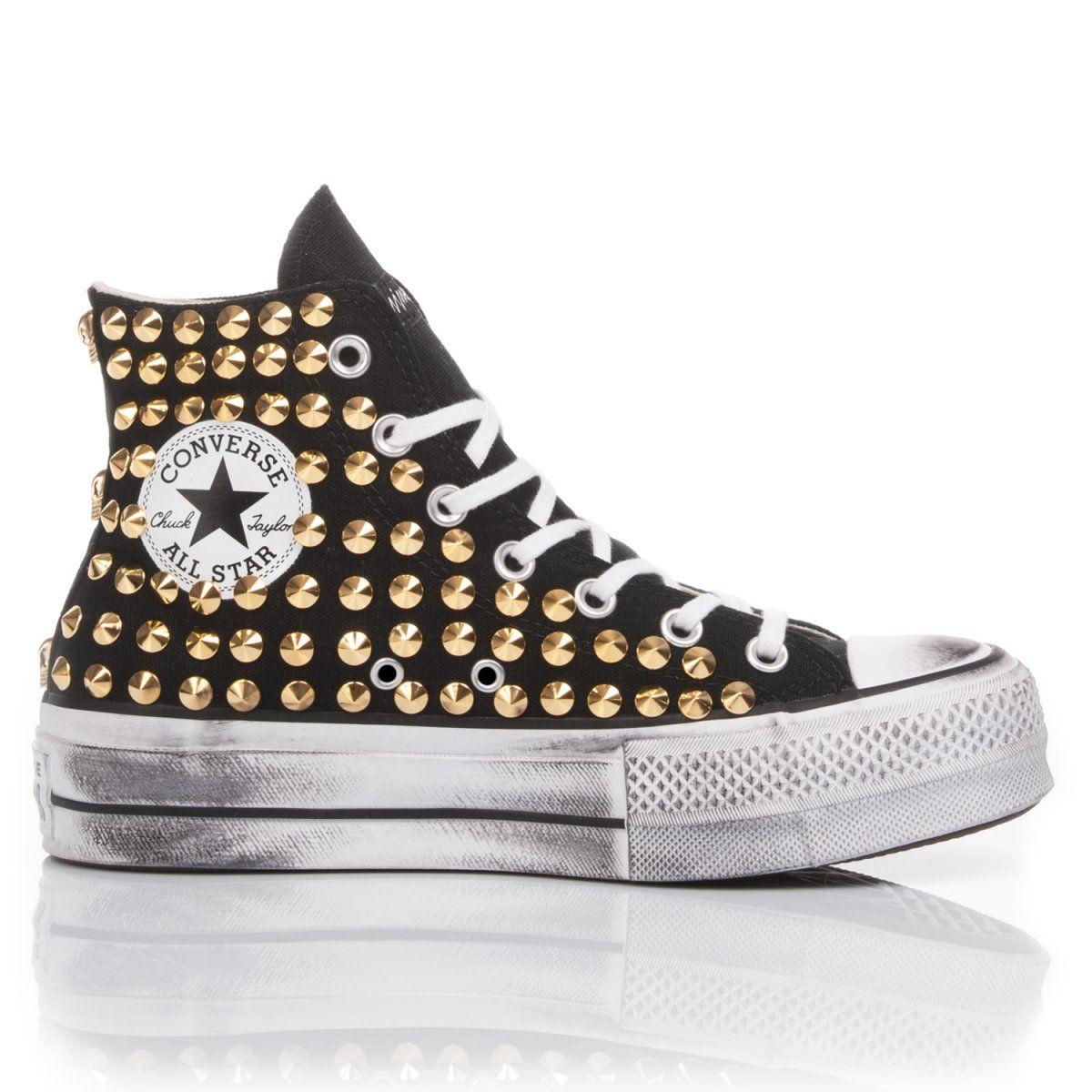 Converse Platform Nera Borchie Oro en 2020 | Chaussure