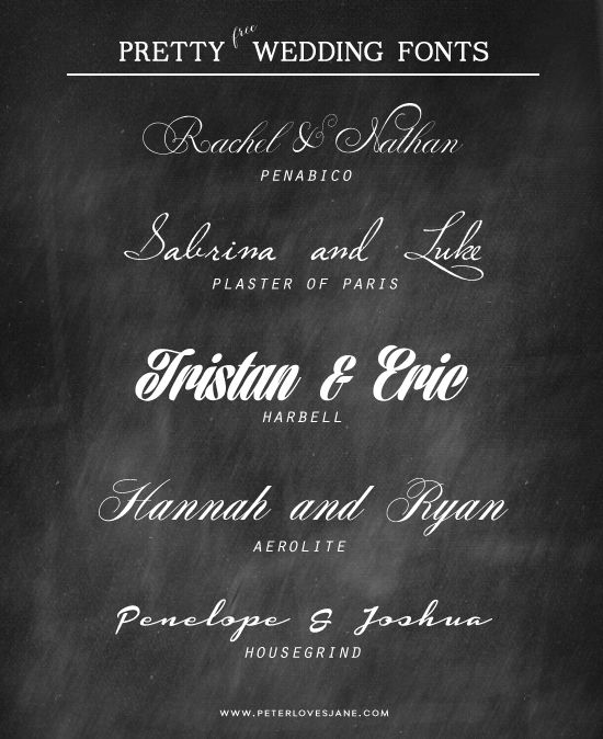 Best Fonts For Wedding Invitations: SNAGA Little Time OffBest Free Wedding