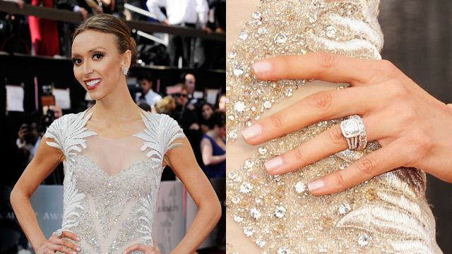 Giuliana Rancic Wedding Ring Size Guiliana Rancic Engagement Wedding Ring Sizes Celebrity Engagement Rings Comfy Dresses