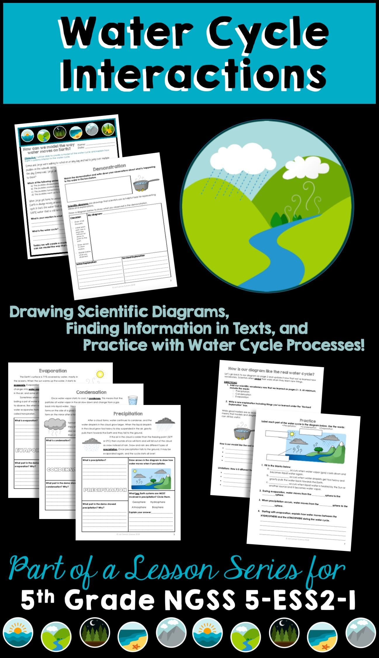 Ngss 5 Ess2 1 Water Cycle Introduction 5th Grade