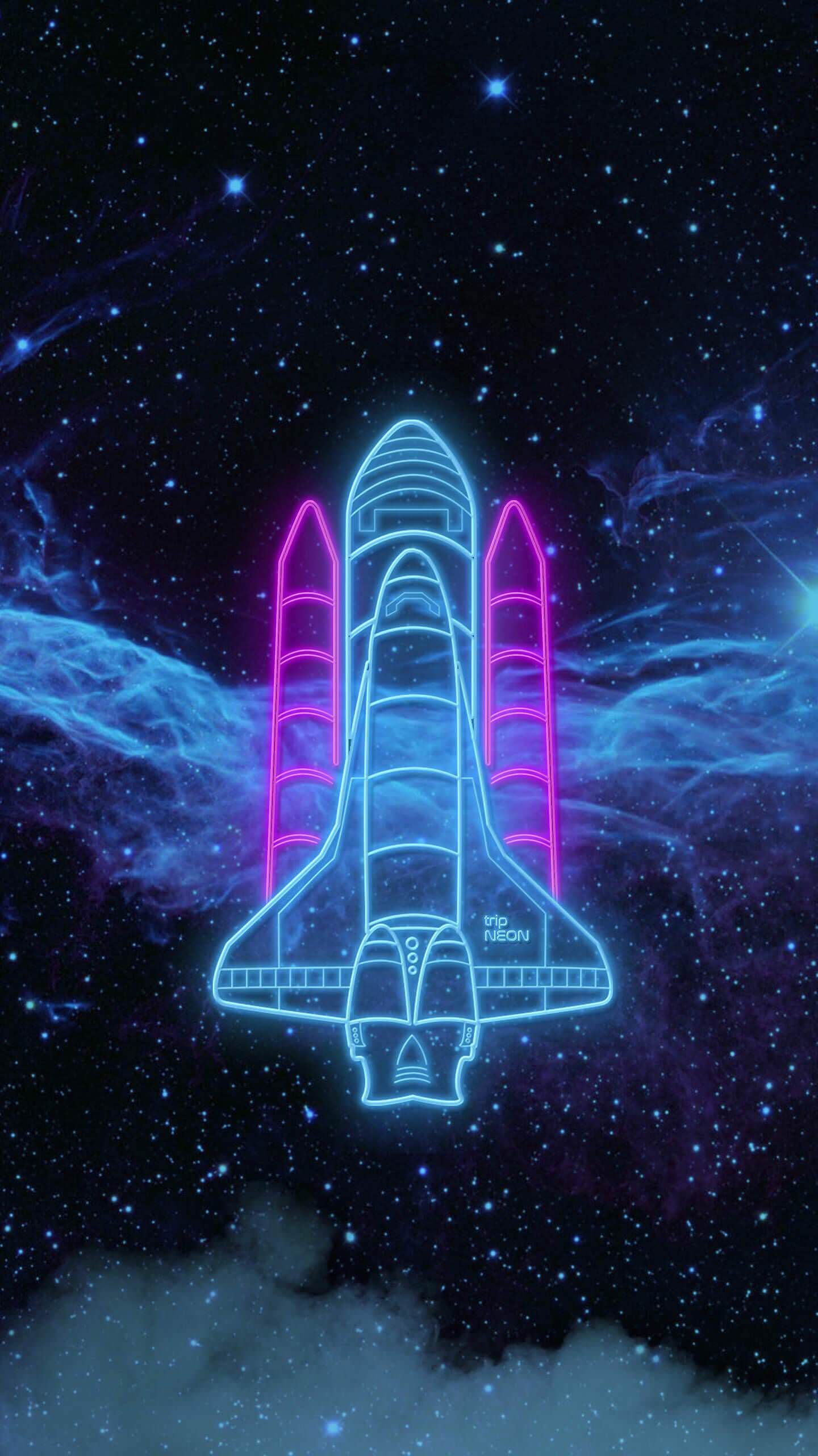 Neon Spaceship Download at