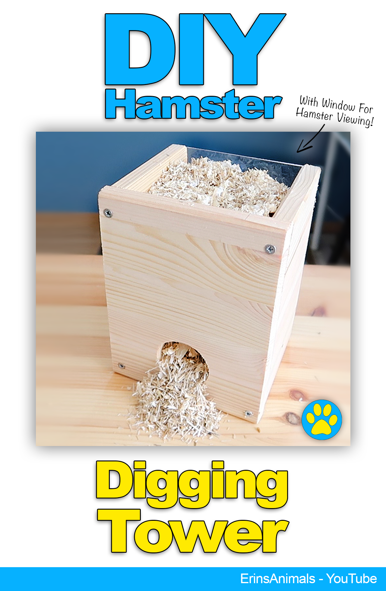Diy Youtube Halloween Costume: DIY Hamster Digging Tower Also For Mice, Rats And Other