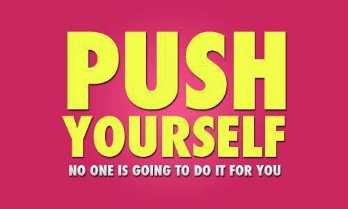 Here is a little reminder to push yourself this week!  Start our 6 Week Emergency Makeover Program to get started.  #6weeks #totalbody #transformation #fitnessprogram