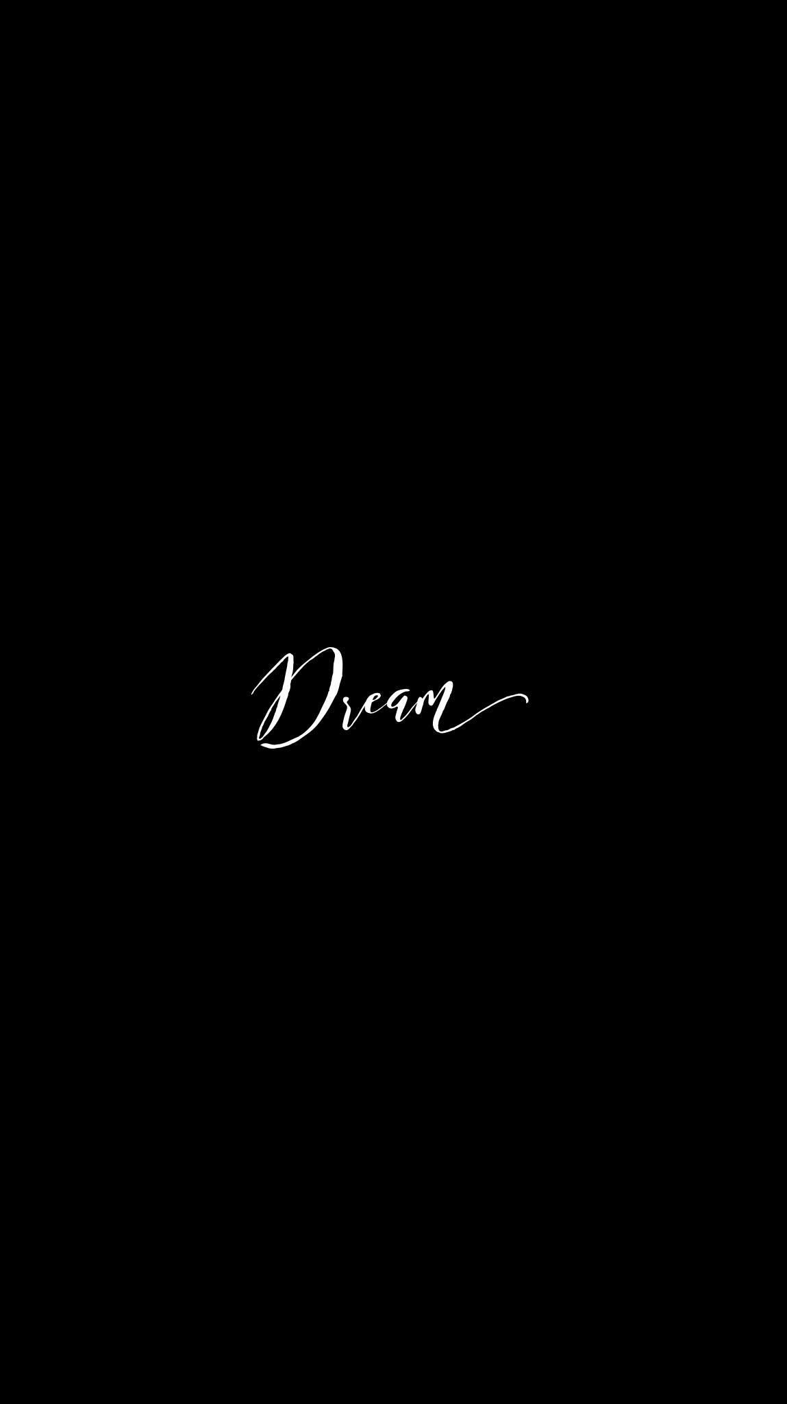 Black Dream:Calligraphy Edit iPhone Mobile Wallpaper @EvaLand   Wonderstruck Wallpaper   Black ...