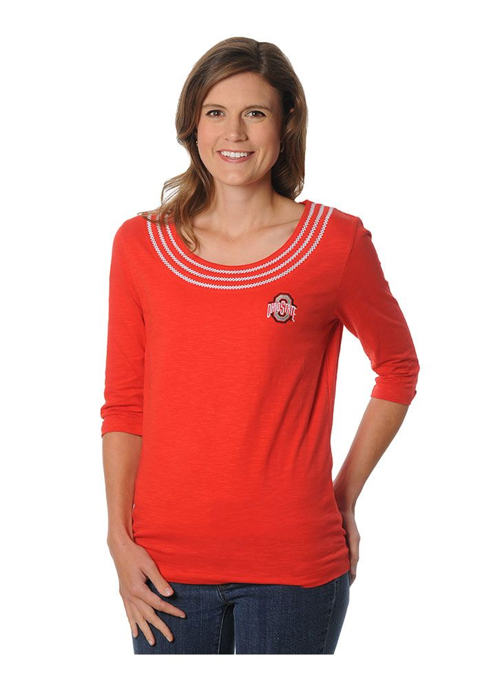 The Ohio State University Womens Red Open Stitch Long ...