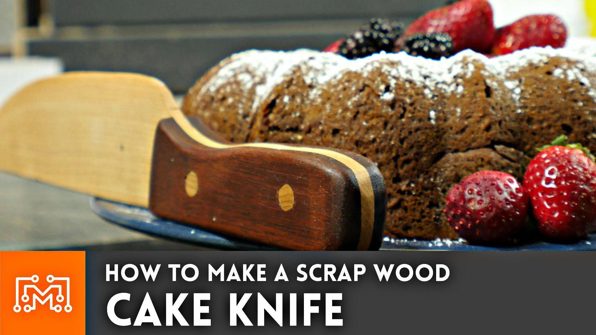 How to make a simple cake knife from scrap wood knife making