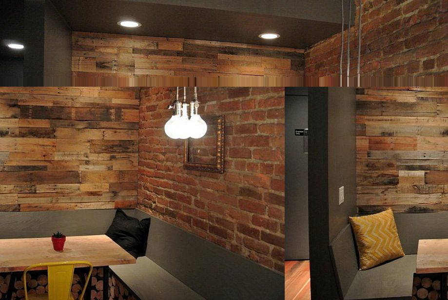 Architecture, Enjoyable Basement Family Room Decorating Ideas With Special  Design Pallet Wood Walls: Basement
