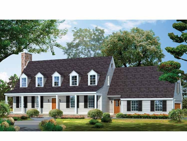 Colonial Style House Plan 3 Beds 2 5 Baths 2542 Sq Ft Plan 72 678 Colonial Style Homes Dutch Colonial Homes Colonial House Plans