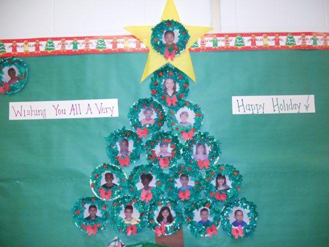Christmas Tree Bulletin Board | Happy Holiday Bulletin Board Idea -  MyClassroomIdeas.com - Christmas Tree Bulletin Board Happy Holiday Bulletin Board Idea