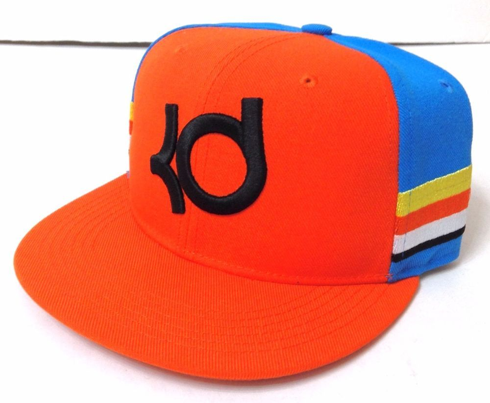 NEW 28 Boy Girl Unisex Youth-Size NIKE KD KEVIN DURANT SNAPBACK HAT  Orange Blue  Nike  BaseballCap 75a46d158e93