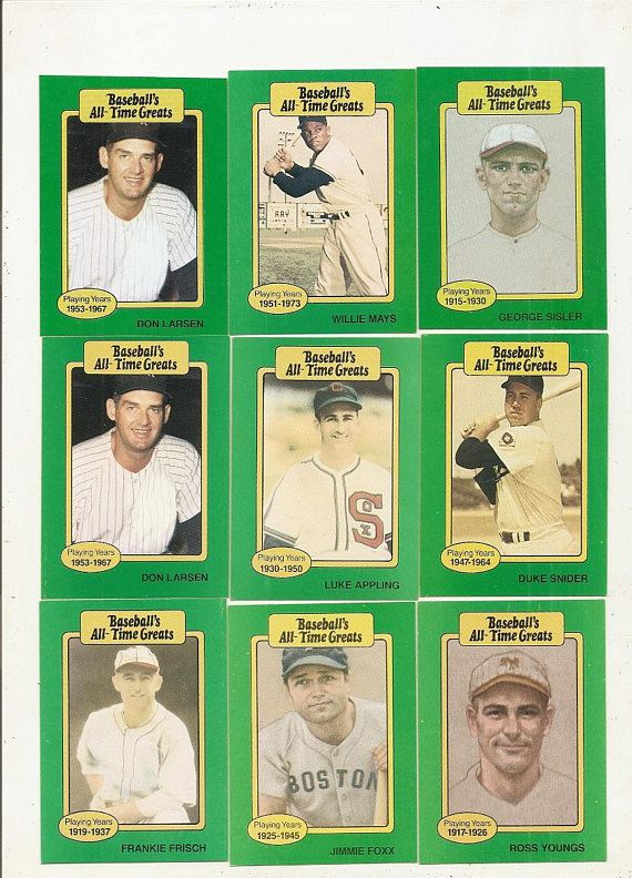 62 Old Vintage Baseballs All Time Greats Picture Cards In 2019