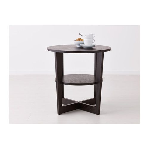Rond Bijzettafeltje Ikea.Us Furniture And Home Furnishings Black Side Table Ikea