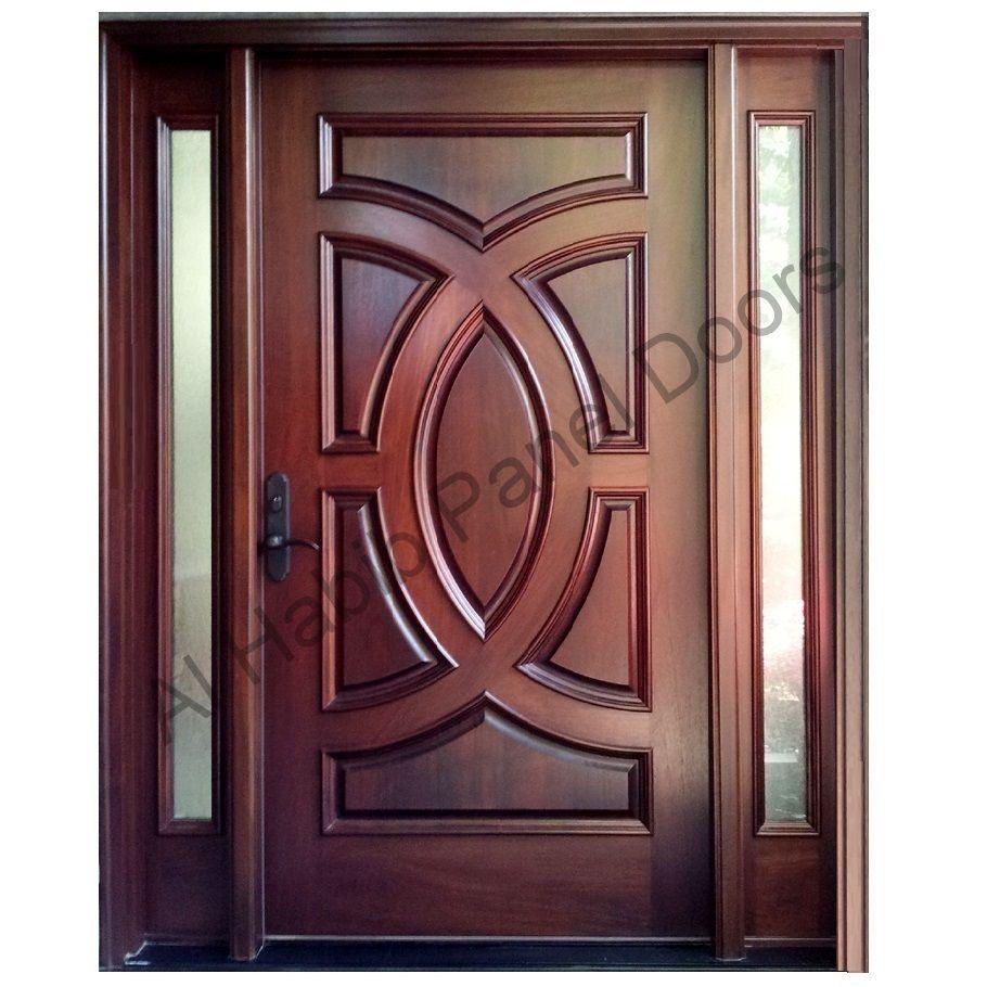 Wood door with frame hpd417 solid wood doors al habib panel doors