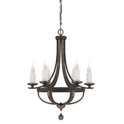 "Features:  Chandelier Type: -Candle-Style chandelier.  Finish: -Reclaimed wood.  Number of Lights: -6.  Bulb Wattage: -60 Watts.  Bulb Type: -Incandescent. Dimensions:  Chain or Rod Length: -120"".  Ov"