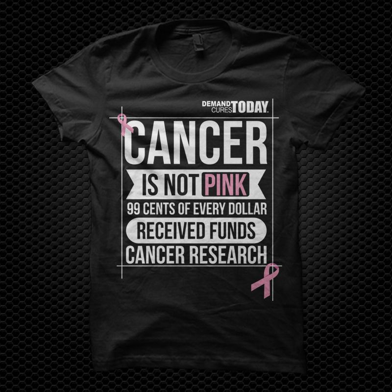 Cancer is NOT Pink. Pink does not cure cancer - research can. 99 ...