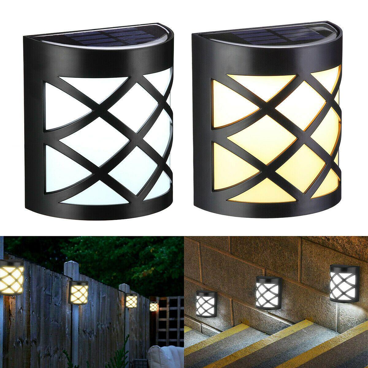 Details About Solar Led Motion Sensor Light 6 Leds Wall Mount Light Waterproof Outdoor Garden Wall Mounted Light Outdoor Wall Lighting Solar Lamp