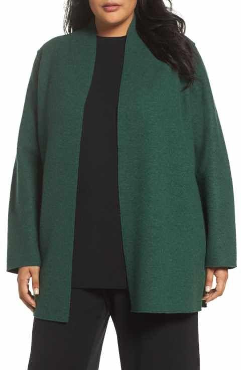 ac5f6fc6a1b Eileen Fisher Boiled Wool Jacket (Plus Size)