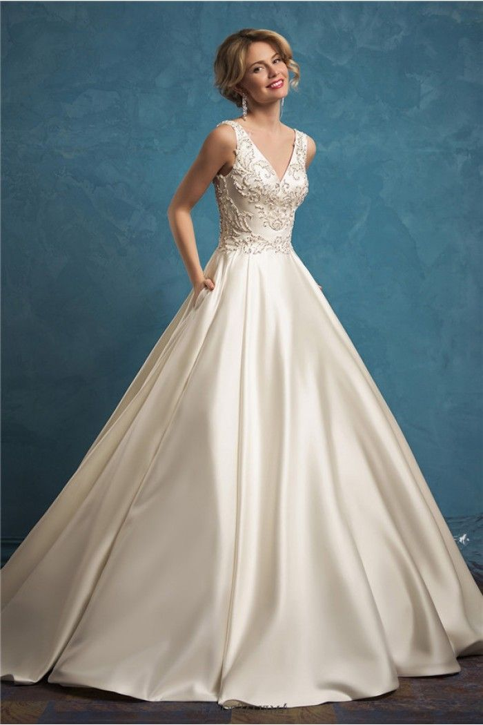 Image result for satin and pearl wedding gown | wedding | Pinterest ...