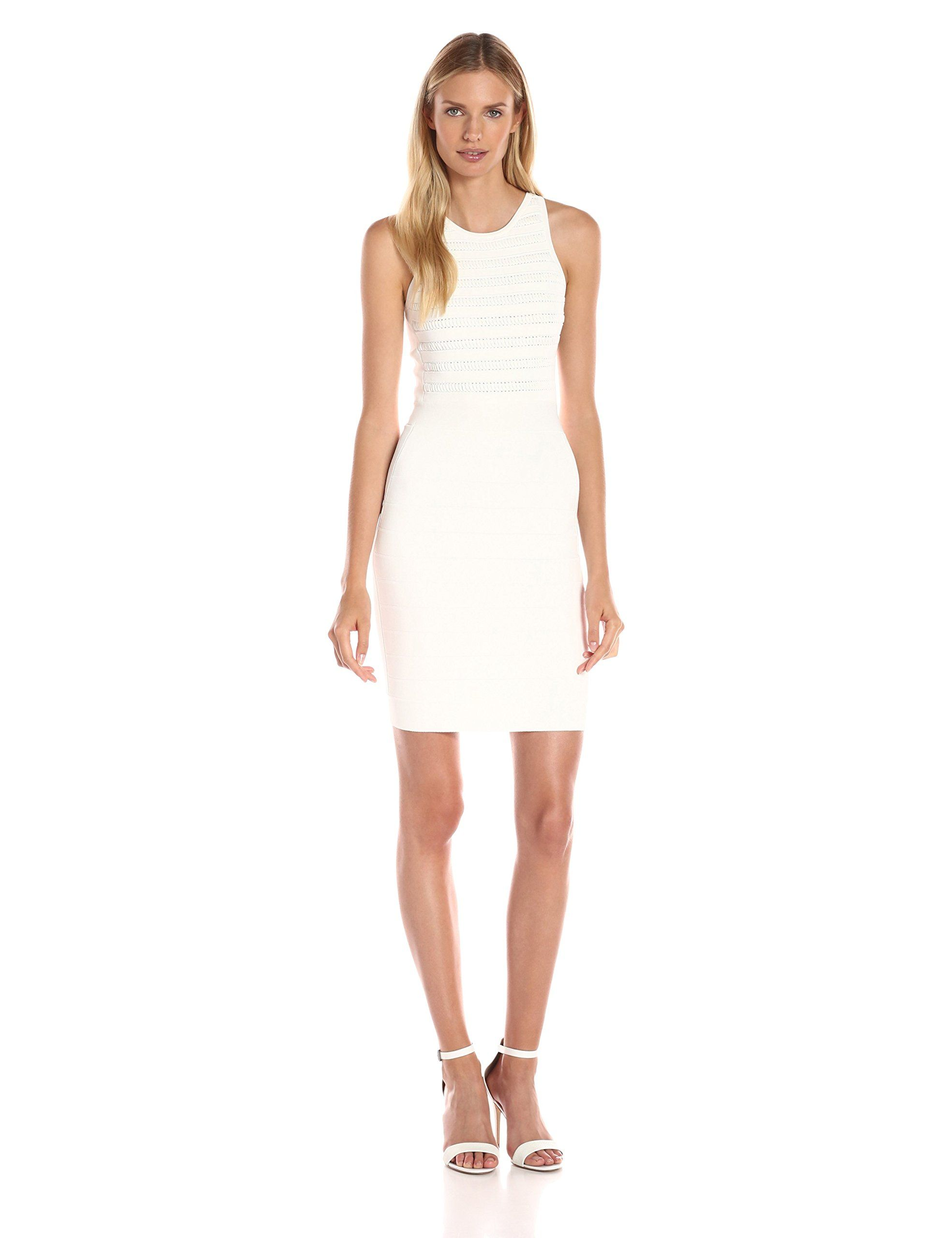 French connection womenus beth crepe dress summer white body