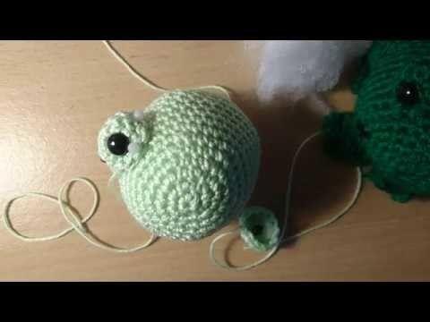 Amigurumi Caterpillar : Sewing frankie frog together. amigurumi crochet. caterpillar crochet