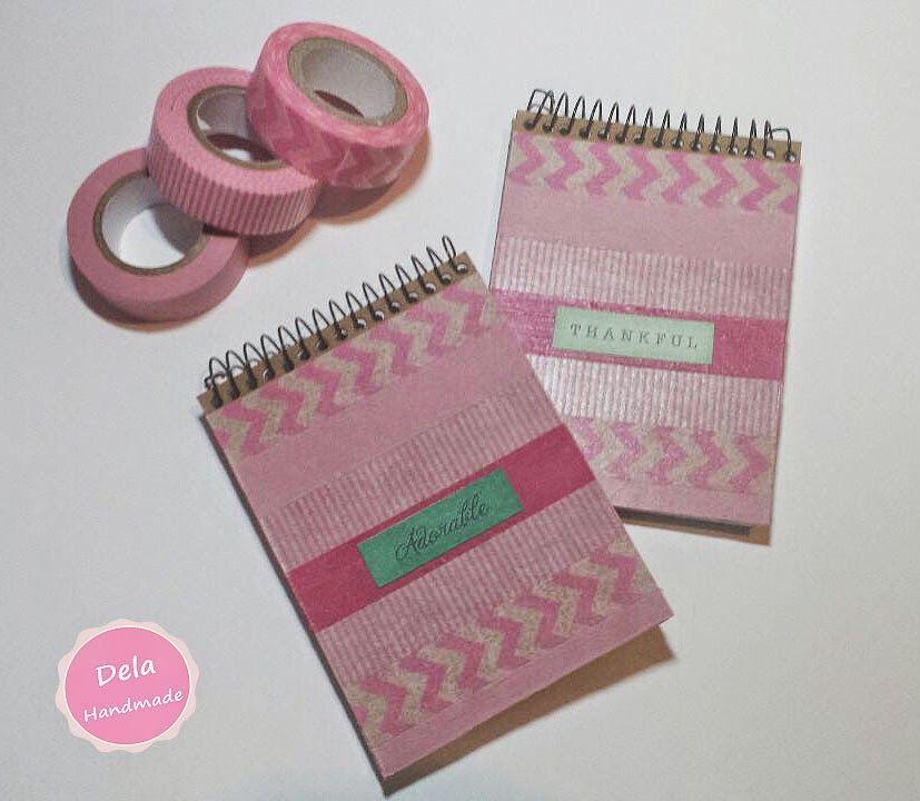Libretas decoradas con washi tape diy tutoriales - Decoracion con washi tape ...
