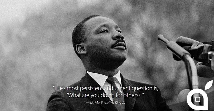 Apple onora il Martin Luther King Jr. Day tramite la home page del suo sito web