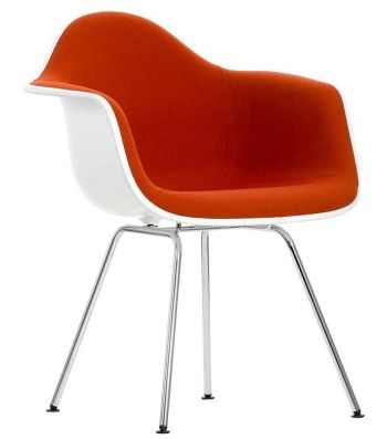 Eames Plastic Armchair DAX With Upholstery Vitra