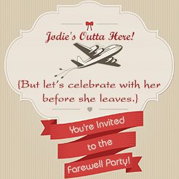 Airplane Farewell Party Invitation Wordings