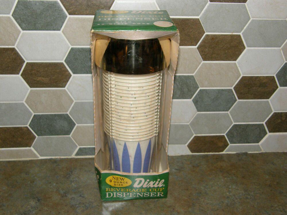 New Vintage Dixie Beverage Cup Wall Mount Dispenser 30 9 Oz Atomic Retro Cups Kitchen Cups Vintage House Vintage