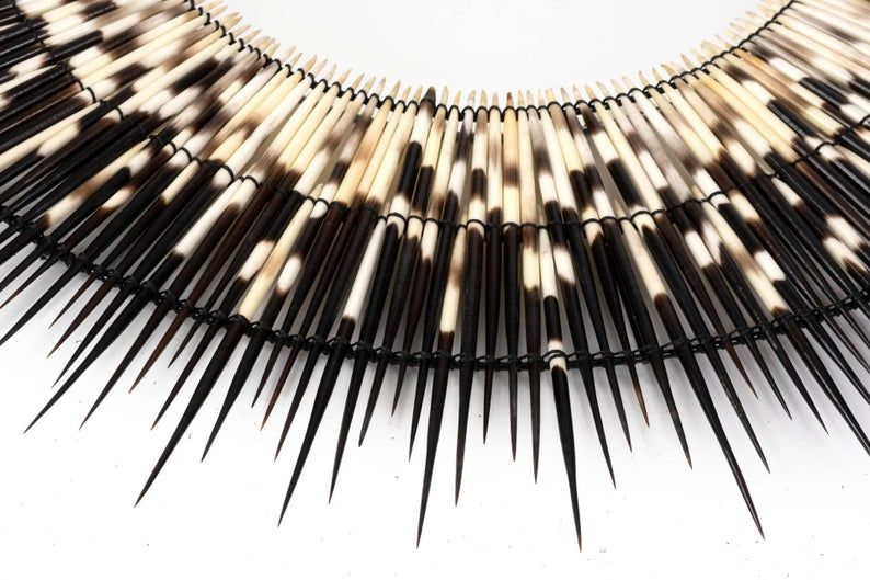 Porcupine Quill Mirror African Porcupine Quill Wall Mirror ...