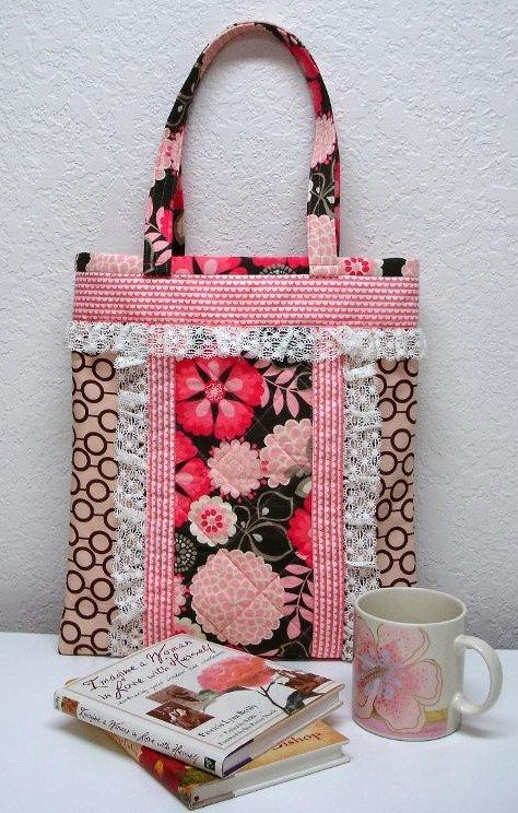Sew Pretty Sew Easy Tote Bag Pattern | Quilts | Pinterest | Tote bag ...