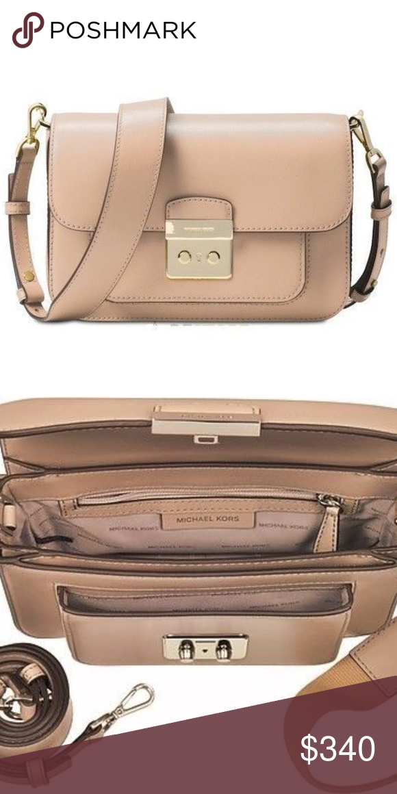 a122e0b78bb994 Michael Kors Sloan Editor Oyster Tan Nude Purse Michael Kors Sloan Editor  Oyster Tan Nude Leather Shoulder Bag Purse Crossbody Includes 2nd strap NEW  WITH ...