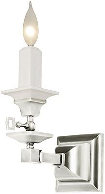 Single Mission Style Gas Candle Sconce With Milk Glass ... on Decorative Wall Sconces Candle Holders Chrome Nickel id=62765