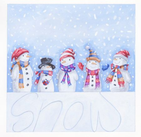 Annabel Spenceley - Snowman Line-up Snowman Pinterest Snowman