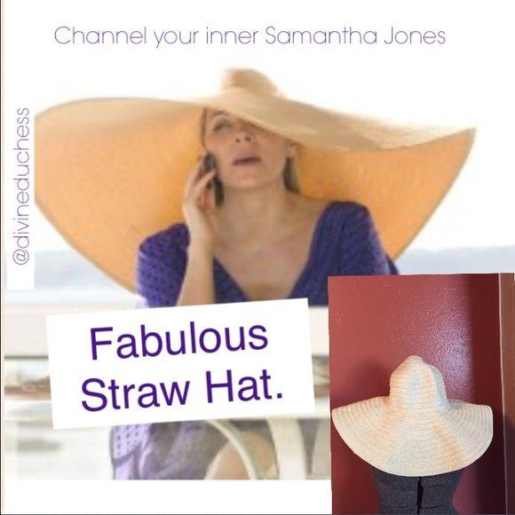 Channel Samantha Jones Fabulous Floppy Hat Samantha Jones Hats Floppy Hat