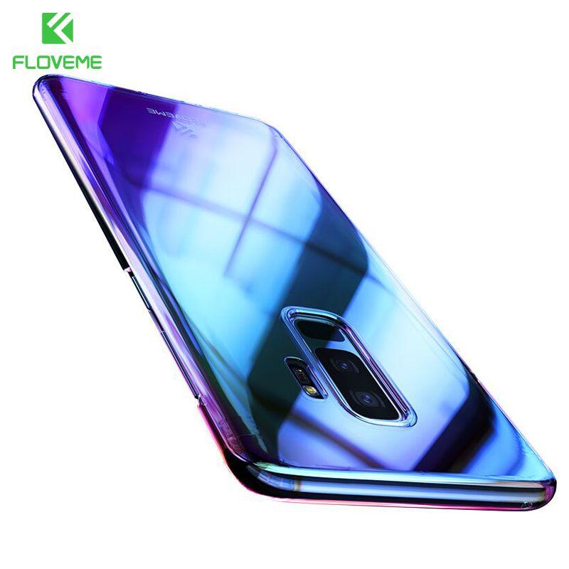 Kaufen Floveme Aurora Blau Ray Telefonkasten Fur Samsung Galaxy S9 S9 Plus Ultra Thin Pc Abdeckung Fur Samsung S8 S6 S7 Ka Phone Smartphone Accessories Samsung