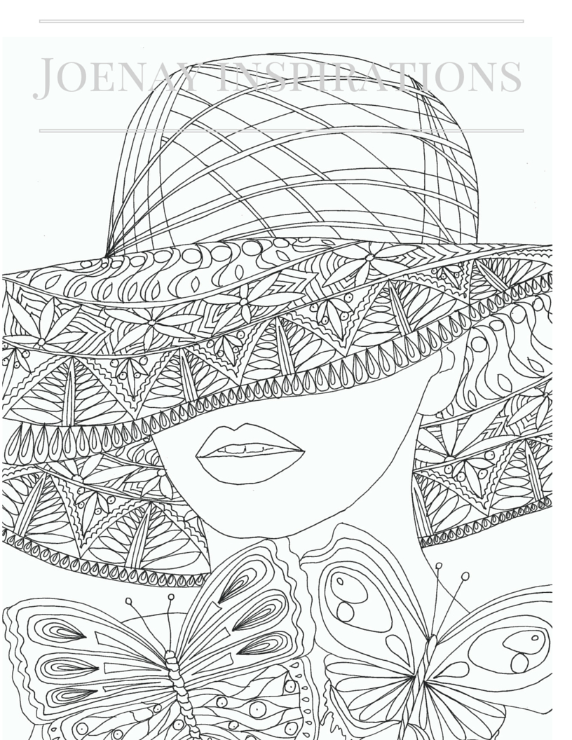 face coloring pages adults - photo#10