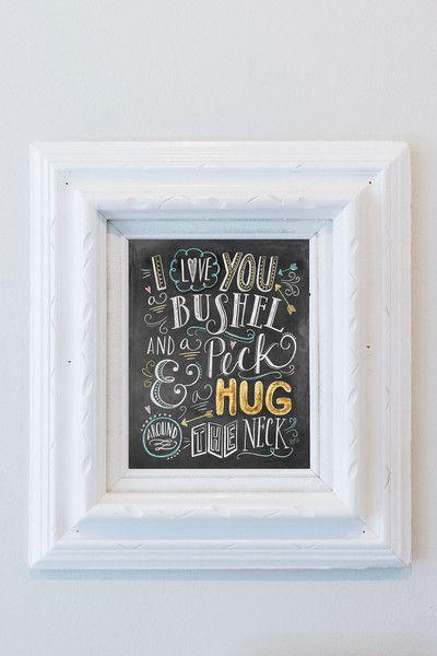 Download I Love You a Bushel & a Peck - Print | Neutral nursery art ...