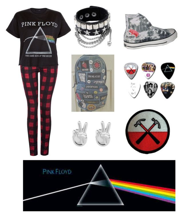 """""""Pink Floyd clothes"""" by alexandria2106 ❤ liked on Polyvore featuring Rock 'N Rose, Dex, Floyd, Converse, women's clothing, women's fashion, women, female, woman and misses"""