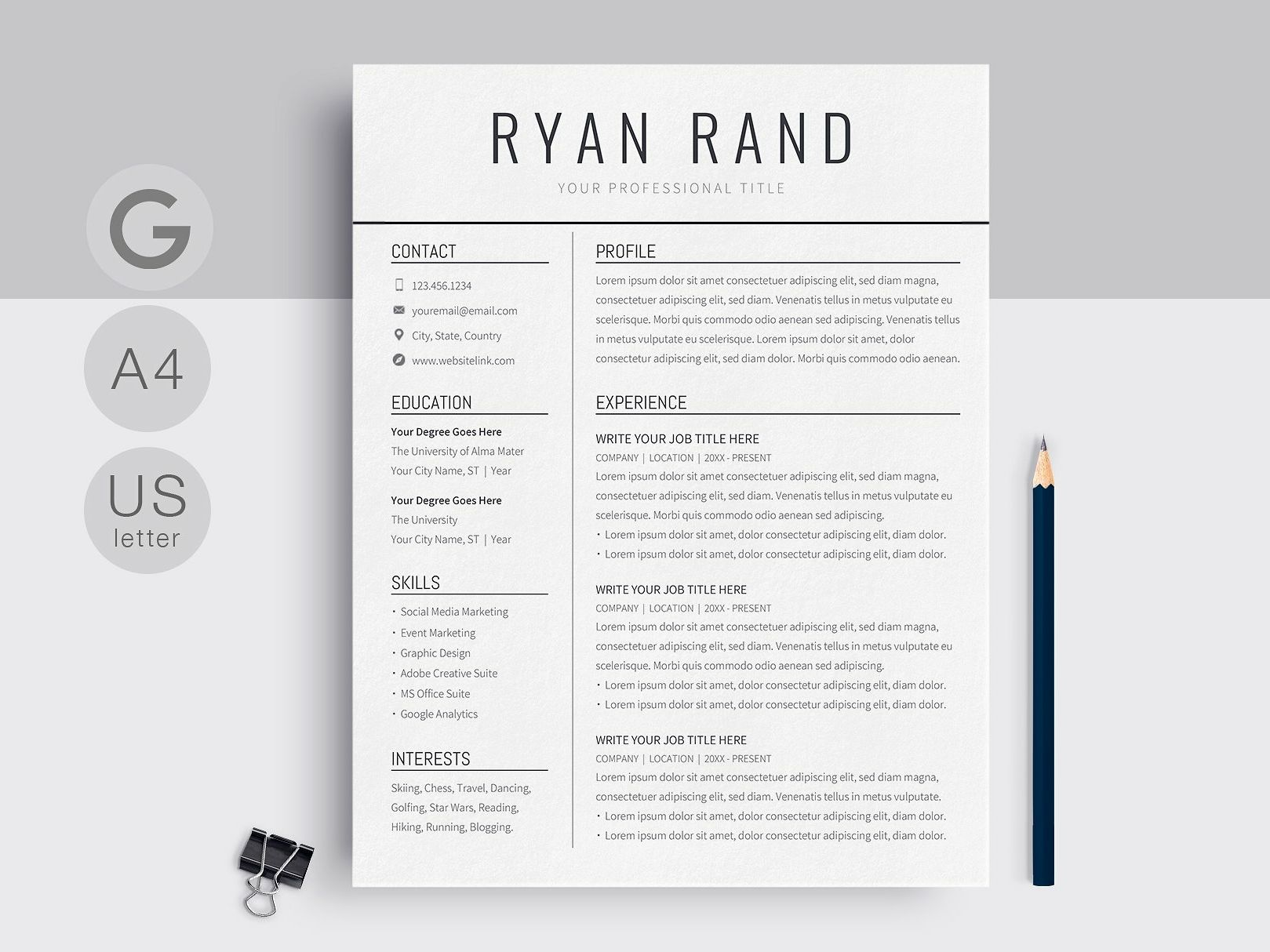 Google Docs Resume Template Downloadable Resume Template Resume Design Template Resume Template