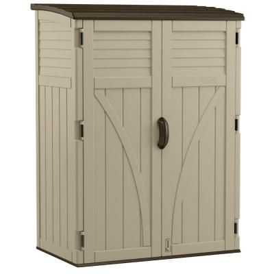 8 in x 4 ft 5 in x 6 ft large vertical storage shed