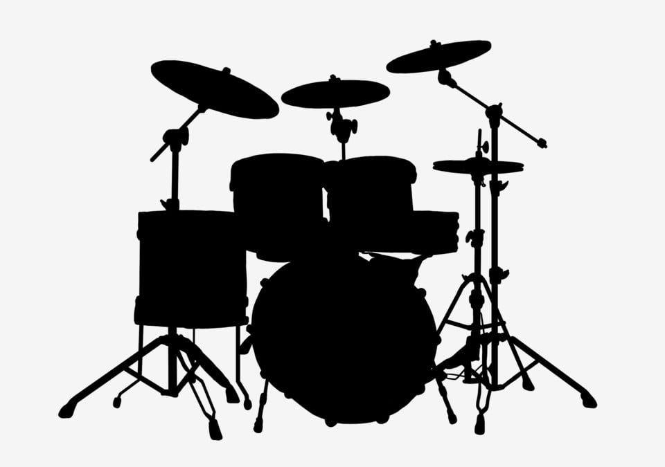 Gambar Alat Muzik Siluet Drum Clipart Gendang Gendang Logam Png Dan Psd Untuk Muat Turun Percuma Silhouette Drawing Music Silhouette Music Clipart